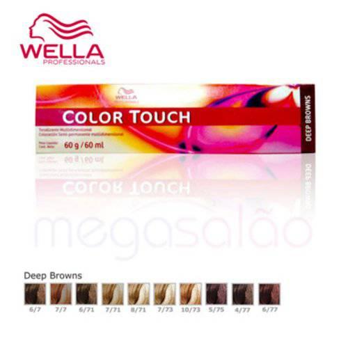 Wella Professionals Color Touch 6/71 Louro Escuro Marrom Acinzentado - Tonalizante 60ml