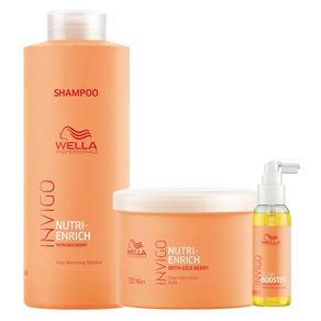 Wella Professionals Invigo Nutri-Enrich Kit - Shampoo + Máscara + Sérum Kit