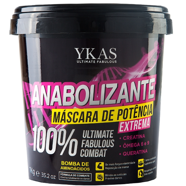 Ykas Anabolizante Capilar Máscara 1 Kilo