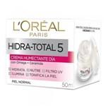 Creme Facial Loreal Hidra Total 5 Pele Normal - 50ml - (dia)