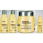 Detra Kit Extreme Repair Shampoo 280ml Condicionador 280ml Máscara 200g Spray 125ml