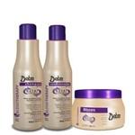 Detra Kit Nutri Control - Shampoo 500ml - Condicionador 500ml e MÁSCARA 400 Gr - R