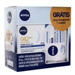 Kit Hidratante Nivea Q10 Antissinais Dia 53g + Lenço de Limpeza Demaquilante