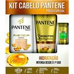 Kit Shampoo Pantene Hidratação 400ml + Condicionador 175ml + Ampola 15ml