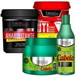 Kit Tratamento Forever Liss Anabolizante Capilar Uti e Shampoo e Mascara Cresce Cabelo - Pequenos