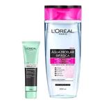 L'Oréal Paris Kit - Água Micelar 5 em 1 + Detox Argila Pura Iluminadora Kit