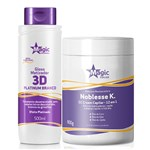 Magic Color - Kit Máscara Noblesse K. 800g + Matizador Platinum Branco Efeito Platinado 500ml