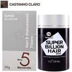 Ficha técnica e caractérísticas do produto Super Billion Hair Fibra Queratina em Pó para Disfarçar a Calvice - Castanho Claro 25g