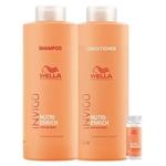 Wella Professionals Invigo Nutri-Enrich Kit - Shampoo + Condicionador + Sérum Reparador Kit