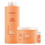 Wella Professionals Invigo Nutri-Enrich Kit - Shampoo + Máscara + Sérum Reparador Kit